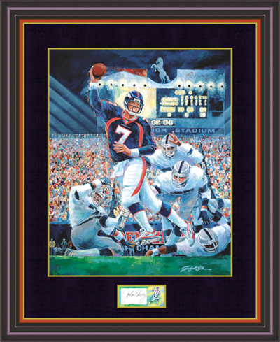 John Elway Autographed Limited Edition Lithographs and